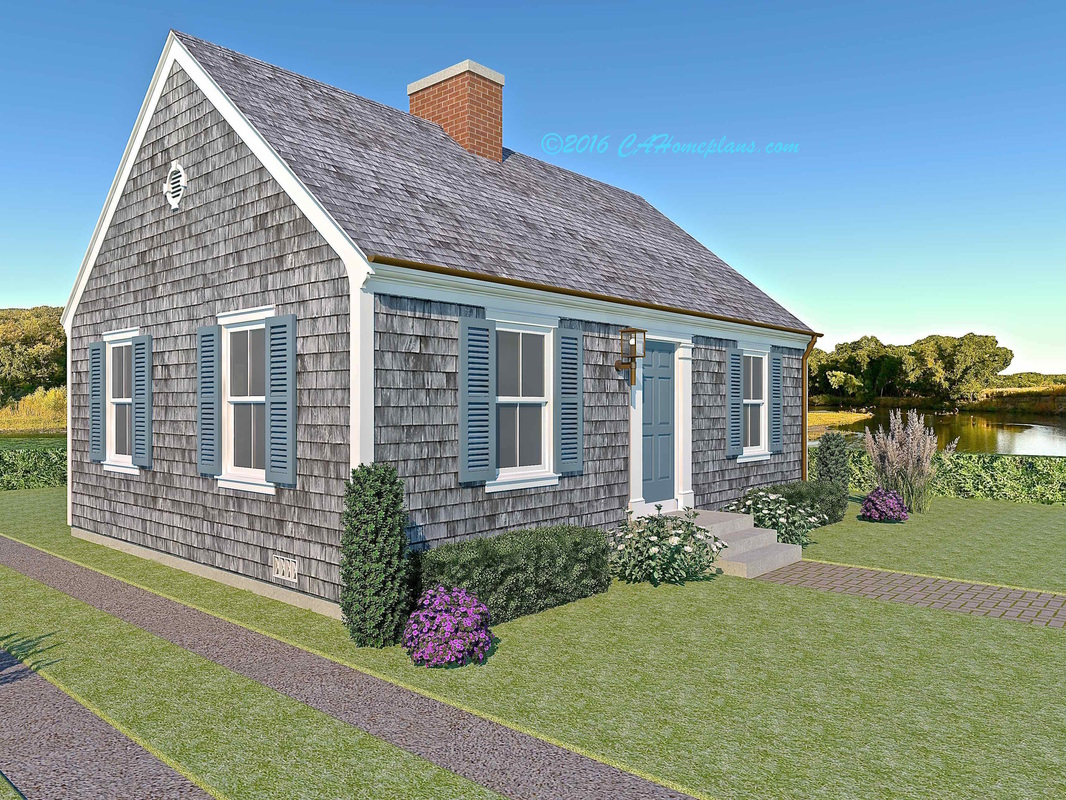 Tiny cape cod colonial revival traditional style house for Cape cod tiny house
