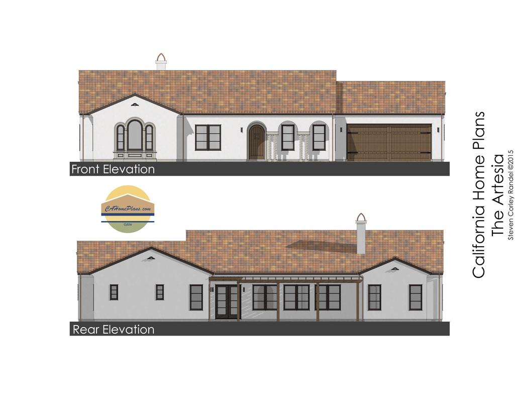 Spanish revival style house plan for sale by cahomeplans Spanish revival home plans