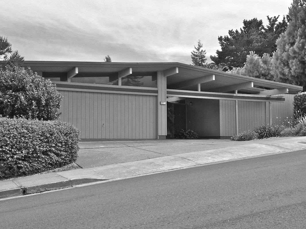Mid-century Modern House Architecture, California