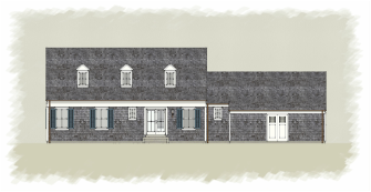 Cape Cod Home Design Rear