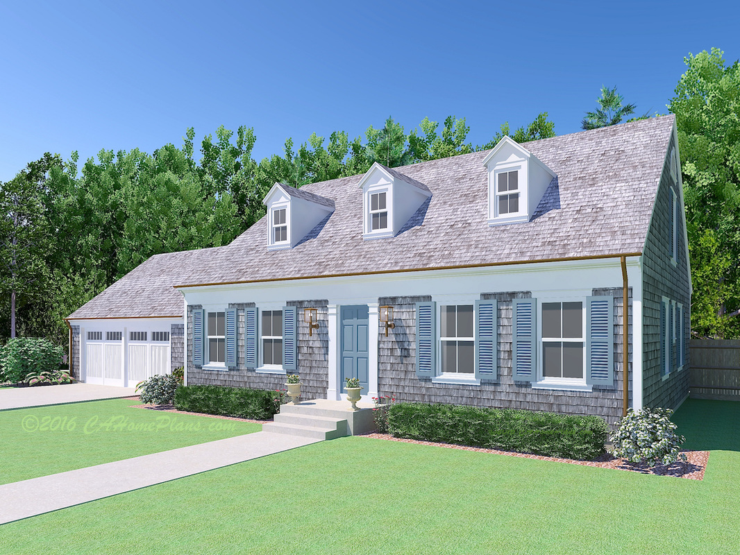 Cape Cod Colonial Revival Home Design