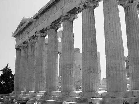 Classical Architecture, The Ruins of The Parthenon, Athens, Greece